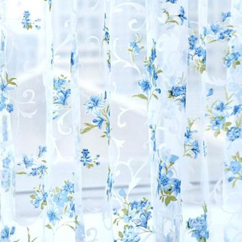 Super Deal  Lattice Tulle Door Window Curtain Drape Panel Sheer Scarf Valances XT