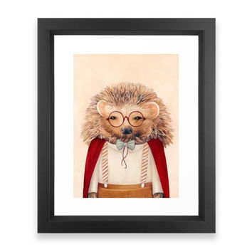 Society6 Hedgehog Framed Print