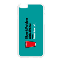Problem with Alcohol White Hard Plastic Case for iPhone 6 Plus by Chargrilled
