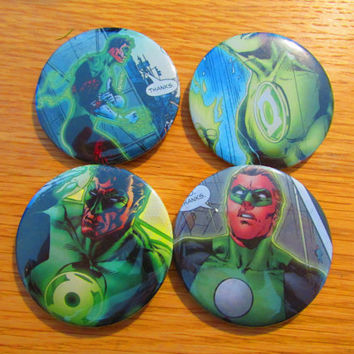 4 DC The Green Lantern 58mm badges