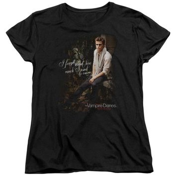 Vampire Diaries - I Used To Care Short Sleeve Women's Tee