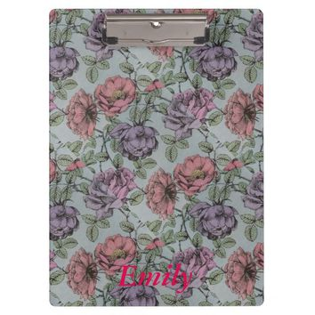 Vintage, Floral style. Clipboard