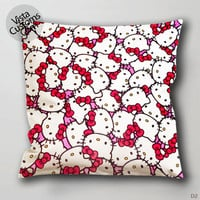 Hello Kitty Face Pink Bow Pillow Case, Chusion Cover ( 1 or 2 Side Print With Size 16, 18, 20, 26, 30, 36 inch )