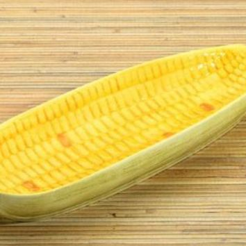 Ceramic Ear of Corn Individual Serving Dish 9L