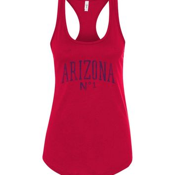 Official NCAA Venley University of Arizona Wildcats U of A Wilber Wildcat BEAR DOWN! Curve No1 Next Level Racerback Tank