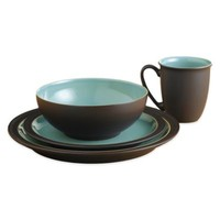 Denby Duets 16-Piece Dinnerware Set in Brown/Turquoise
