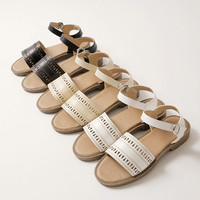 Ankle Straps Sandals Rubber Sole Women Shoes