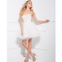 2013 Prom Dresses - Off White Diamond & Tulle Short Prom Dress - Unique Vintage - Prom dresses, retro dresses, retro swimsuits.