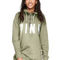 Lace-Up Quarter-Zip - PINK - Victoria's Secret