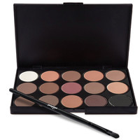 1 Eye Shadow 15 Color Professional Nude Eyeshadow Palette Makeup Matte Natural Long Lasting Beauty Eyeshadow Palette Maquiagem