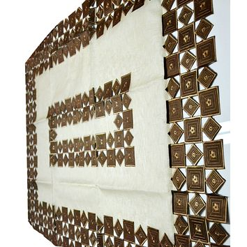 Linen Sevill Decorative Embroidered Cutwork Table Cloth