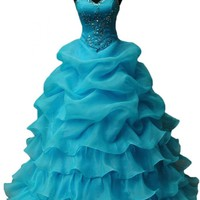 Emma Y New Sweetheart Neckline Ruffles Ball Gowns for Ladies