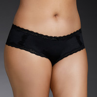 Lace Up Microfiber Cheekster Panty
