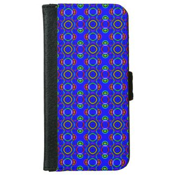 Bright Geometric Design iPhone 6/6s Wallet Case