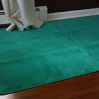 Microfiber Dorm Rug - Emerald Spring Green Products For College Students Rugs For Cheap Dorm Supplies