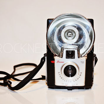 SALE: Vintage Kodak Brownie Starflash camera, circa 1960