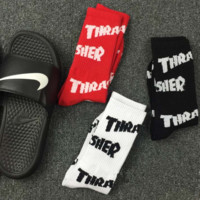 """Theasher""cotton socks for men and women dance rock hip-hop stockings A set for THREE pairs"