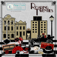 Digital Scrapbooking Kit, Scrapbook Paper, Digikit, Journaling, Card Making,  Clipart, Paper Craft Supplies - Roaring Twenties