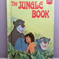 1974 Jungle Book Vintage Disney Book by VintageWoods on Etsy
