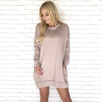 Cold Front Blush Pink Sweater Dress