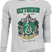Slytherin Harry Potter Hogwarts Quidditch Team Festival Retro VTG Jumper Sweater Sweatshirt Long Sleeve Pullover Hoodie Hood S M L