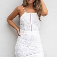 Yes Indeed White Crochet Lace Dress
