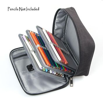72 Slots Detachable Oxford Canvas School Pencils Case