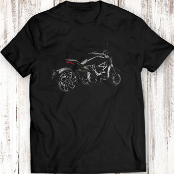 Ducati xDiavel The Bastard Motorcycle Mens T-Shirt 100% Cotton Men Gift Idea Black T Shirt Garment Apparel