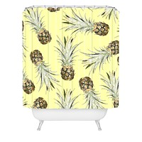 Lisa Argyropoulos Pineapple Jam Shower Curtain
