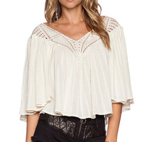 AMUSE SOCIETY Liv Woven Top in Beige