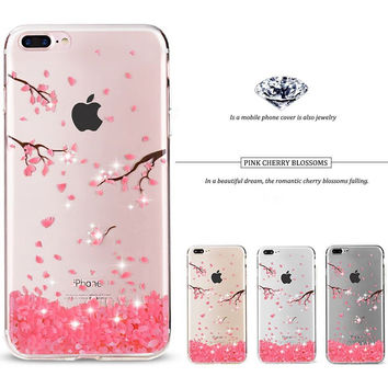 iphone7 Case Rhinestone Glitter Silicone Cover Original For iphone 7 Plus Luxury Crystal Diamond Soft Shell 4.7&5.5 -iHomegifts