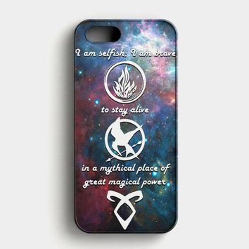 Divergent Tris Tattoo Ravens Quote iPhone SE Case