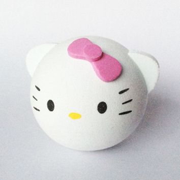 White Hello Kitty with Pink Bow KT Cat Girl Adorable Cute Cartoon Animal Antenna Ball Aerial Topper Decoration Car Roof Ornament