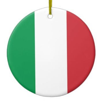 Ornament with flag of Italy