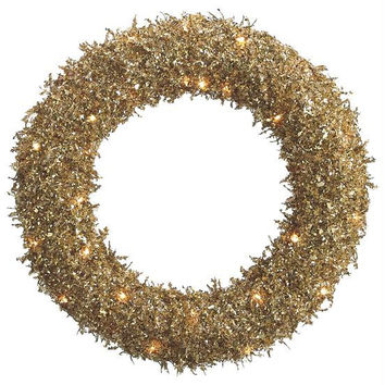 Christmas Wreath - Gold Sequin