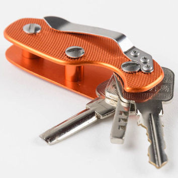 Outdoor Portable Aluminum Key Holder Organizer Clip Folder Key ring Key-Chain Case EDC Pocket