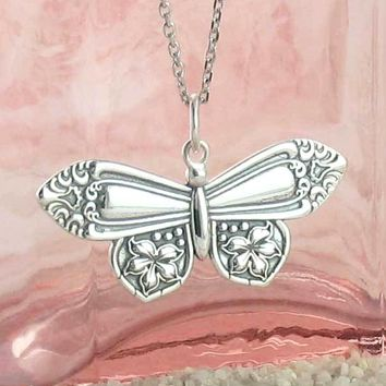 Old-Fashioned Butterfly Spoon Necklace