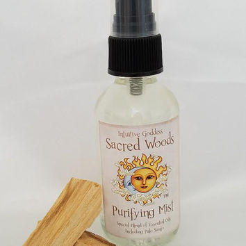 Sacred Woods Smudging/Space Clearing Aromatherapy Body/Room Spray Palo Santo Essential Oil Blend