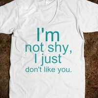 I'm Not Shy Unisex V-Neck Tee