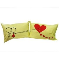 "Couple Gifts Land: : ""Couple Fed Love"" Couple Pillowcases-romantic Valentines Gifts for Couples, Cute Valentines Day Gift Ideas, Good Couple Gifts for Valentines, Romantic Anniversary Gifts (Wedding Gift for the Couple)"