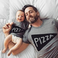 Father Daughter, Father Son Matching Pizza Party T Shirts