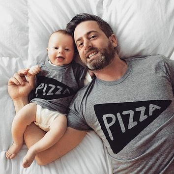 Father Son or Daughter (matching set) Pizza Slice T Shirts