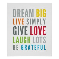 LIFE MANTRA positive cool typography bright colors
