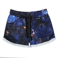 Casual Galaxy S Print Pants Shorts [6049204737]