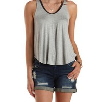 Color Block Racerback Tank Top by Charlotte Russe