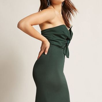 Strapless Tie-Front Dress