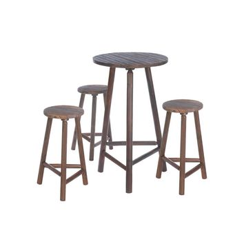 Wood Bar Table & Bar Stools Set