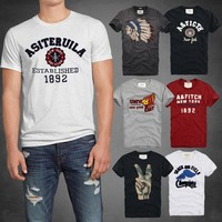 2016 New fashion Famous brand hollistic homens t shirt 100 % cotton abercr for ombi men T-shirt homme