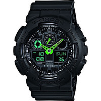 G-Shock Neon Highlights Black & Neon Green Ana-Digi Watch - Black