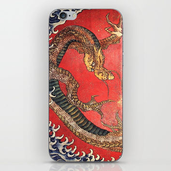 Dragon by Hokusai iPhone & iPod Skin by oldking
